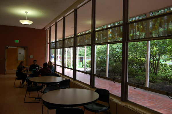 Most students say the Food for Thought Cafe in York Graduate Center is their preferred meeting sp...