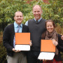 Graduate students Kirk Shephard MA '13 and Ivy Katz MA '13 celebrate the completion of the Ecopsy...