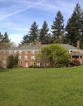Rogers Hall and Corbett House on the beautiful graduate school campus