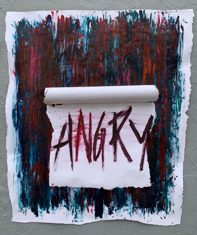 "This image reveals the word Angry underneath the first flap on ""Why Do I Feel So Deeply.? (..."
