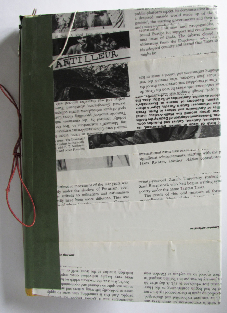 Title: First Junk Journal, backDimensions: 3.5x6.5x9.5Materials: book cover, paper, glue, waxed s...